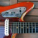 fender jaguar 1964 blonde with red overspray - neck pickup