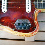 fender jaguar 1964 blonde with red overspray - switches