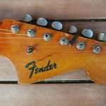 fender jaguar 1964 blonde with red overspray - headstock