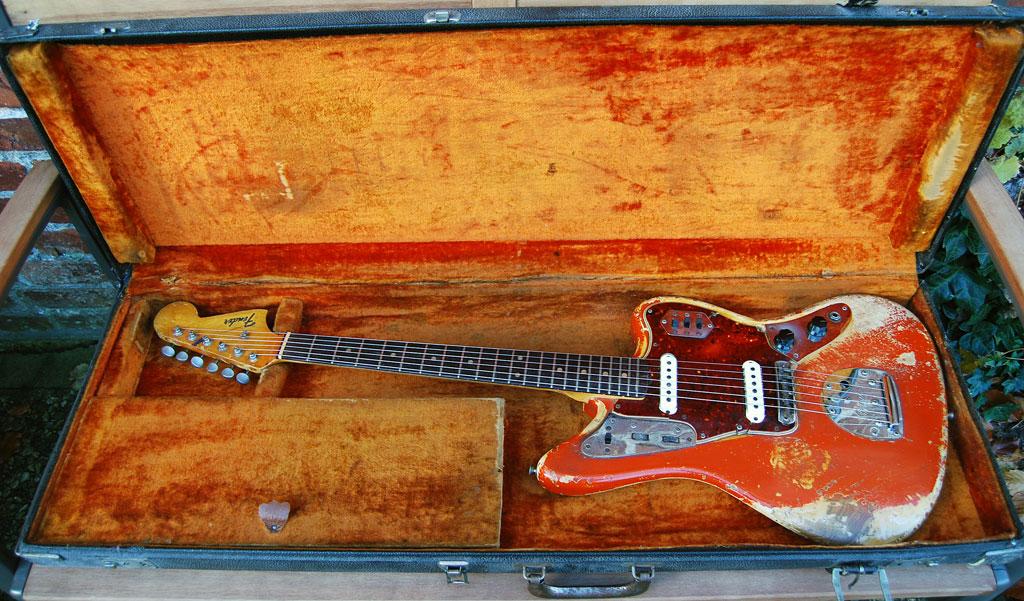 Fender Jaguar 1964 - black tolex no logo case