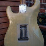 fender stratocaster 1957 blonde refinished - body back