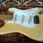 fender stratocaster 1957 blonde refinished - body