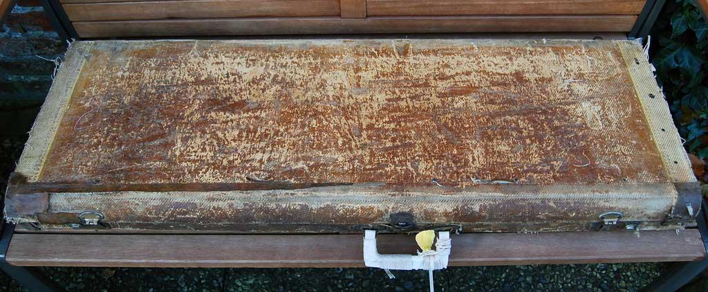 fender stratocaster 1957 blonde refinished - tweed case