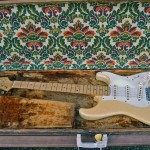 fender stratocaster 1957 blonde refinished in tweed case