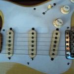 fender stratocaster 1957 blonde refinished - pickups