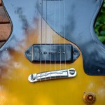 gibson les paul junior 1959 singlecut - body detail p-90 pickup