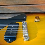 gibson les paul junior 1959 singlecut - body detail bridge