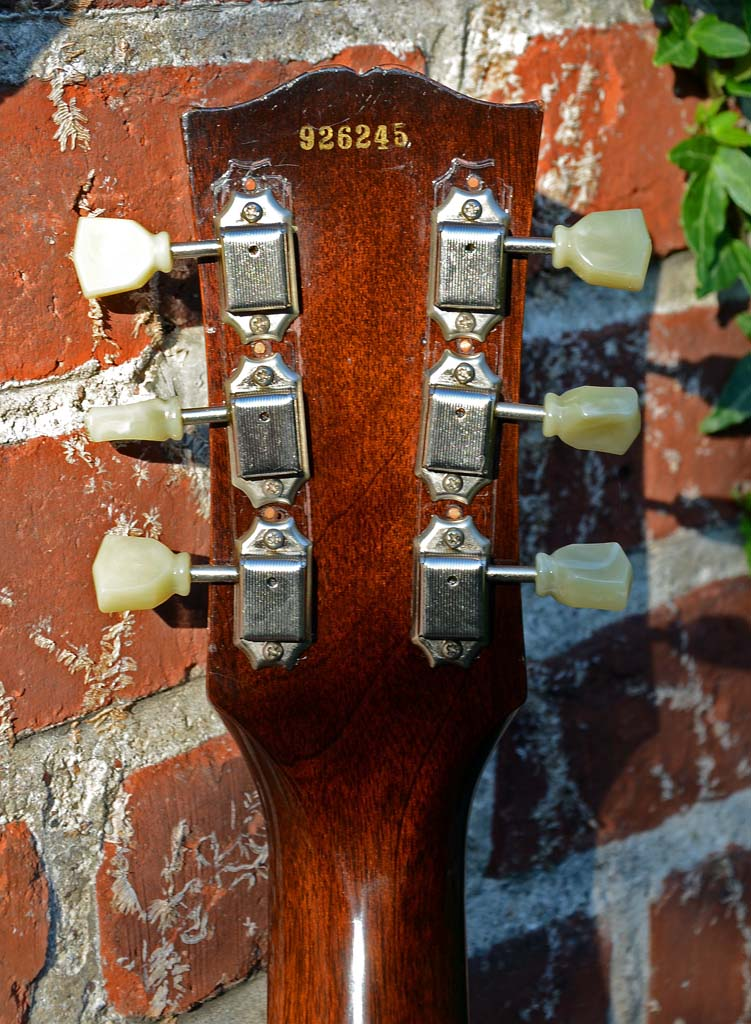 gibson les paul junior 1959 singlecut - headstock back
