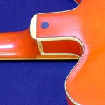 gretsch chet atkins 1964 - neck joint with binding rot
