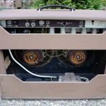 fender super amp 1962 brown 6G4-A - back view