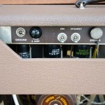 fender super amp 1962 brown 6G4-A - back view detail