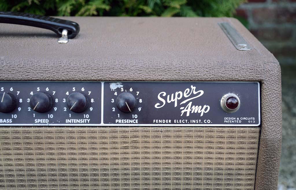 fender super amp 1962 brown 6G4-A - logo
