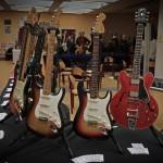 vintage guitar show oldenburg 2013 - www.tone-nirvana.com, fender stratocaster 1957 hardtail, fender stratocaster 1966, gibson es-335 1961 with bigsby